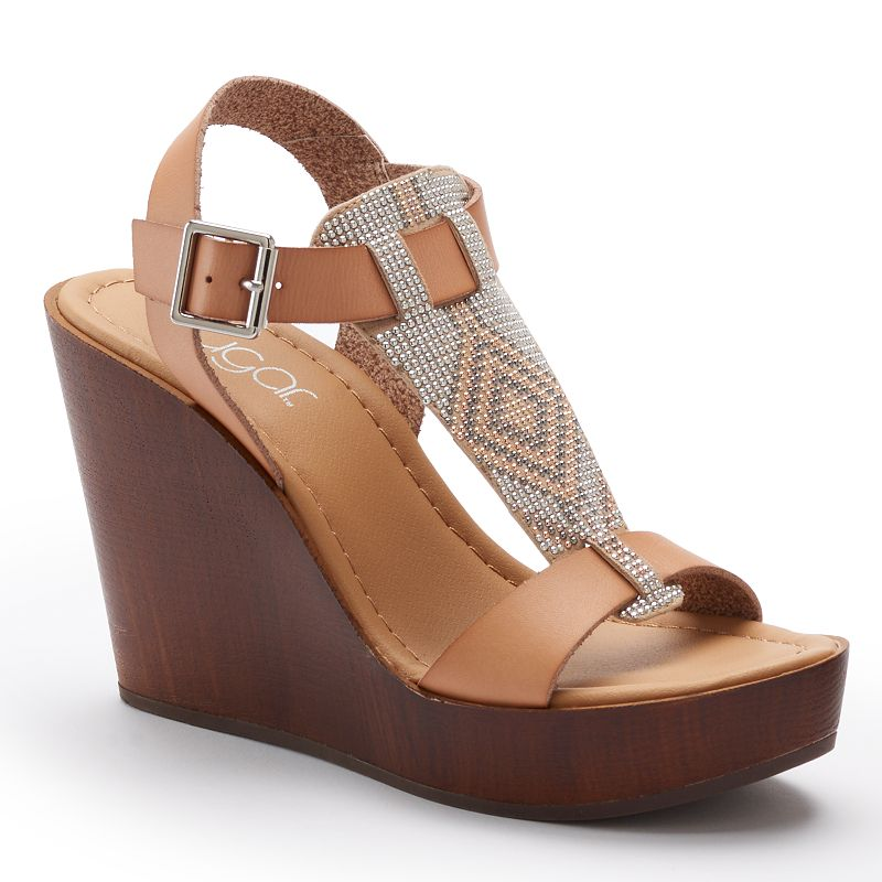 sugar Women's Ankle-Strap Wedge Sandals