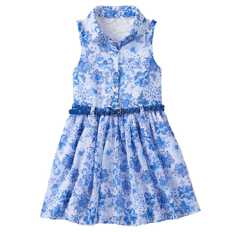 Girls 4-6x Nannette Belted Floral Dress