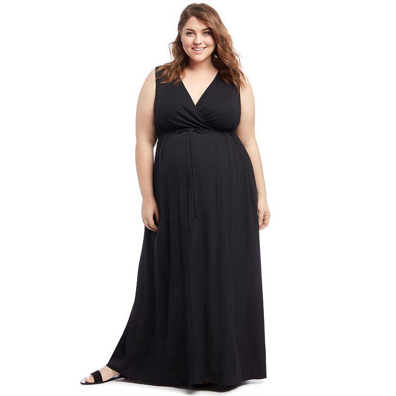 Plus Size Maternity Oh Baby by Motherhood™ Surplice Maxi Dress