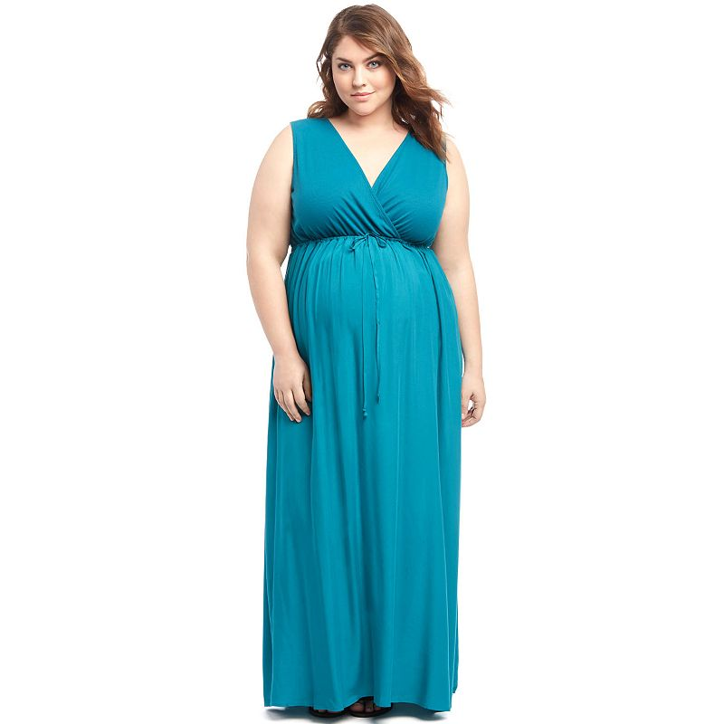 Plus Size Maternity Oh Baby by Motherhood™ Surplice Maxi Dress