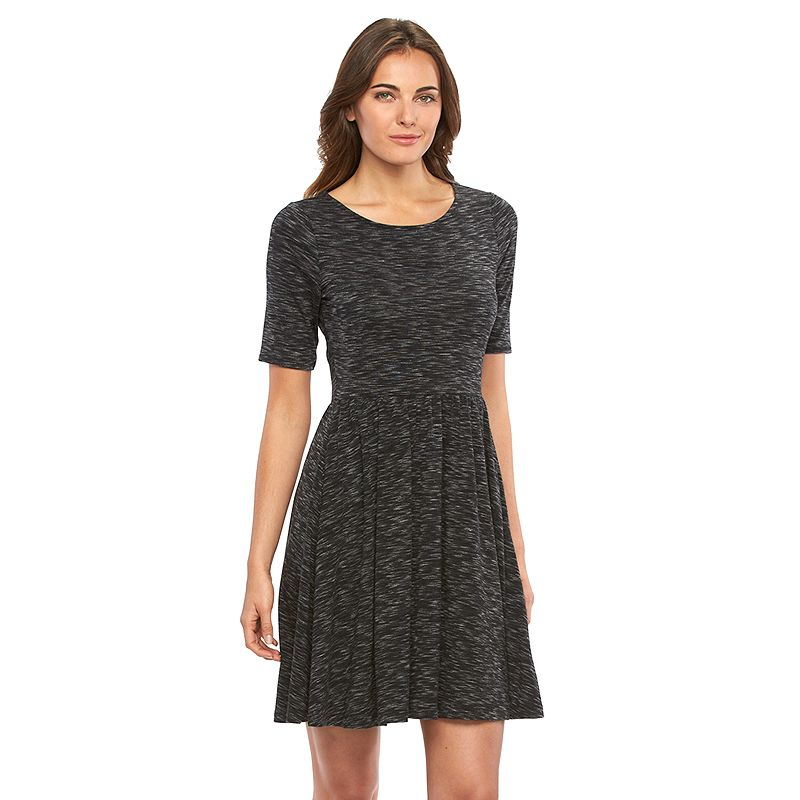 Women's Apt. 9® Marled Fit & Flare Dress