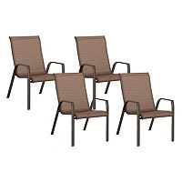 SONOMA Goods for Life™ Coronado Stackable Sling Patio Chair 4-piece Set