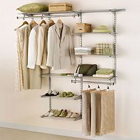 Rubbermaid Configurations 4 to 8 Foot Custom Closet Organizer (White)