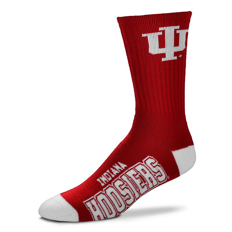 Adult For Bare Feet Indiana Hoosiers Team Color Crew Socks