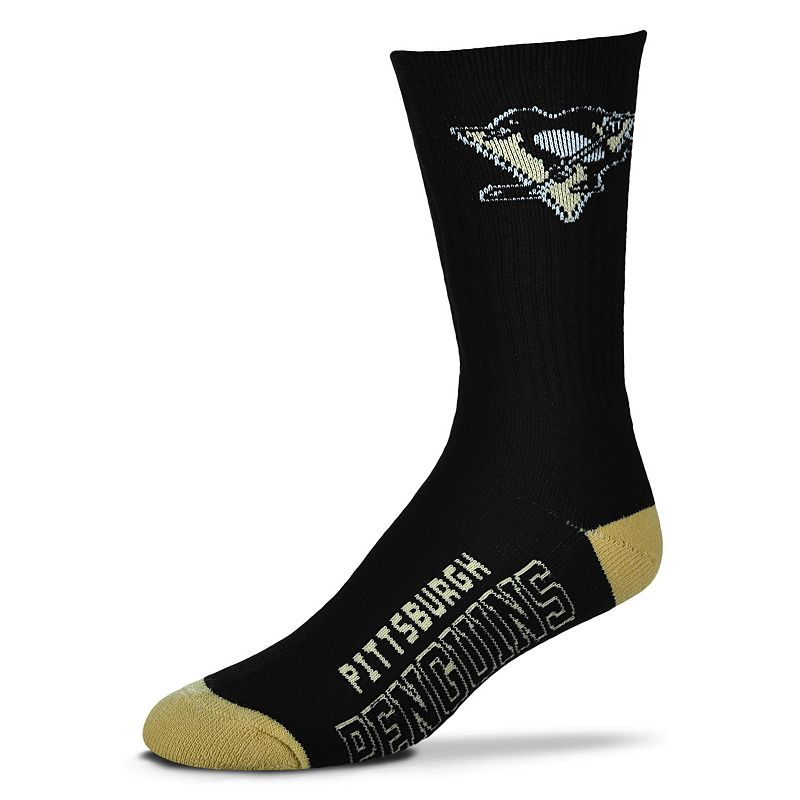 Adult For Bare Feet Pittsburgh Penguins Team Color Crew Socks