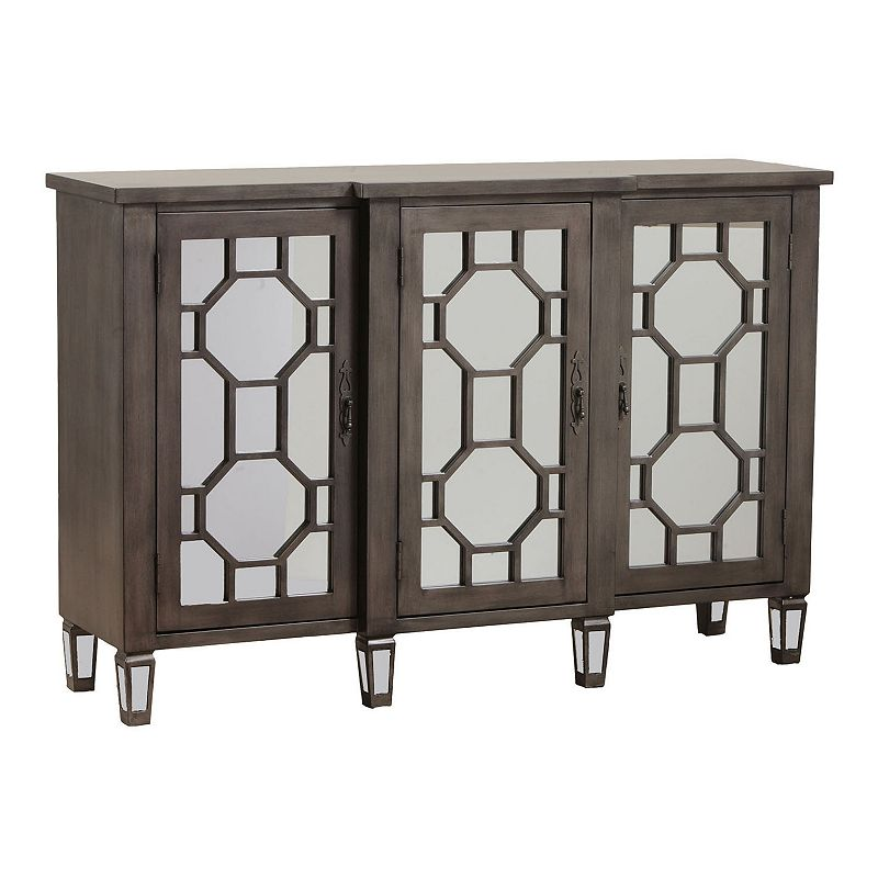 Bombay™ Hex Fret Mirrored Console Table