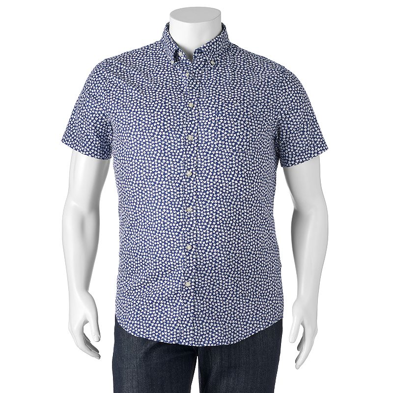 Big & Tall SONOMA Goods for Life™ Tropical Button-Down Shirt