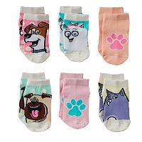 Toddler Girl The Secret Life of Pets Max & Gidget 6-pk. Crew Socks