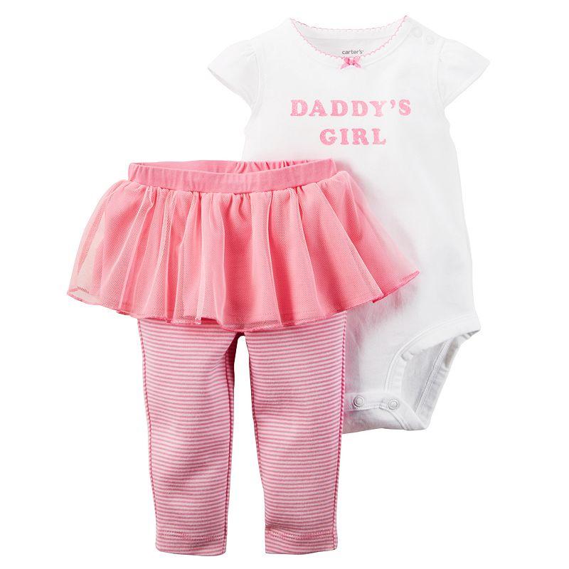 Baby Girl Carter's Bodysuit & Tutu Leggings Set