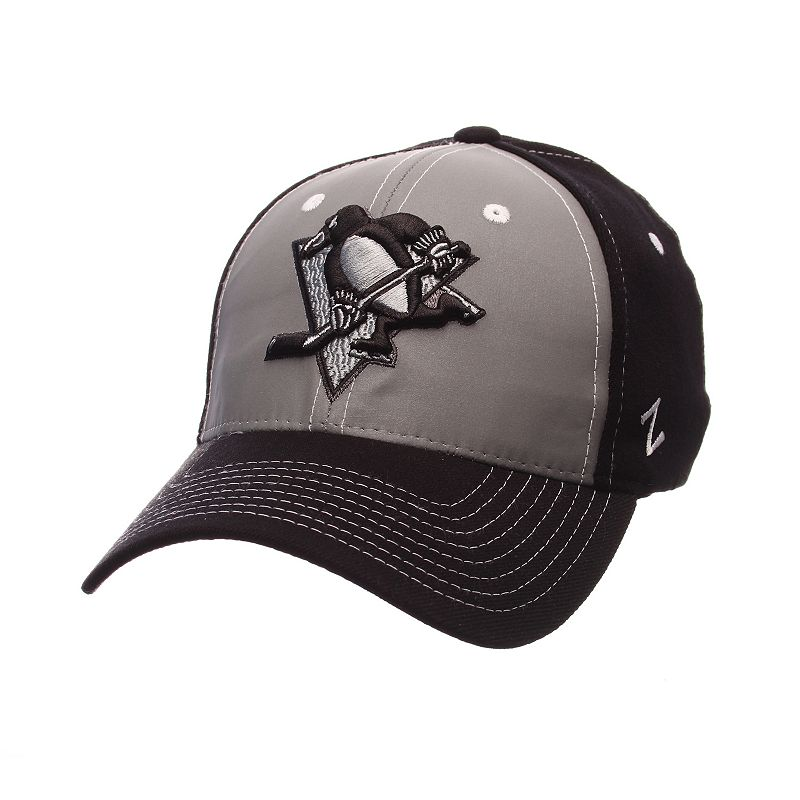 Adult Zephyr Pittsburgh Penguins Night Game Stretch-Fit Cap