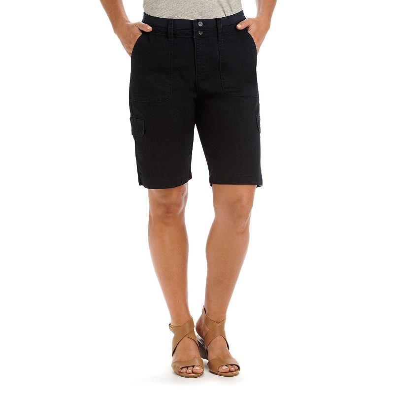 Petite Lee Avey Relaxed Fit Bermuda Shorts