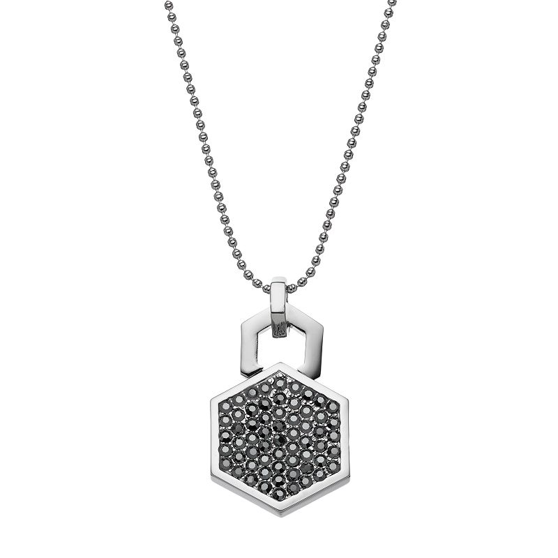 COCO LANE Hexagon Pendant Necklace