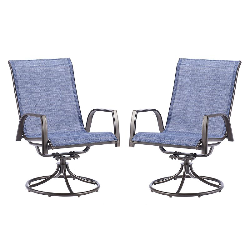 Sonoma Outdoors 2 Piece Coronado Swivel Sling Chair Set