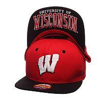Youth Zephyr Wisconsin Badgers Undercard Snapback Cap