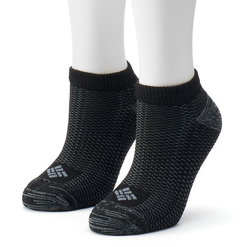 Women's Columbia 2-pk. Explorer Striped No-Show Socks