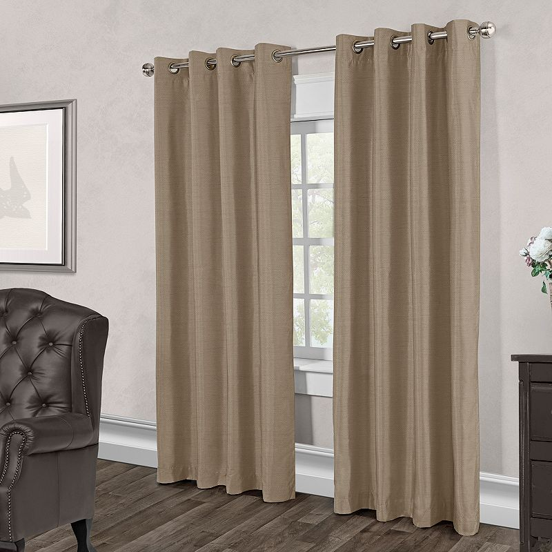 Exclusive Home 2-pack Chatra Faux Silk Curtains - 54'' x 96''