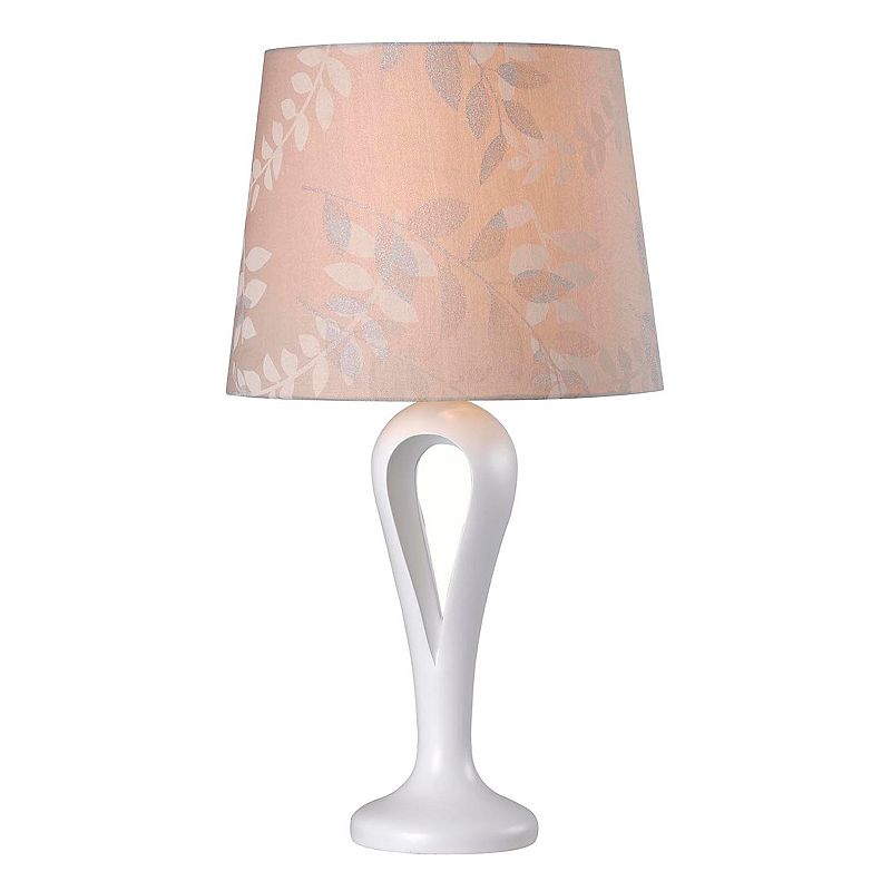 Kenroy Home White Parfume Table Lamp