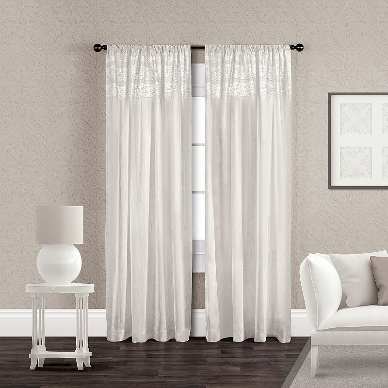 Exclusive Home 2-pack Vintage Crochet Curtains - 50'' x 96''