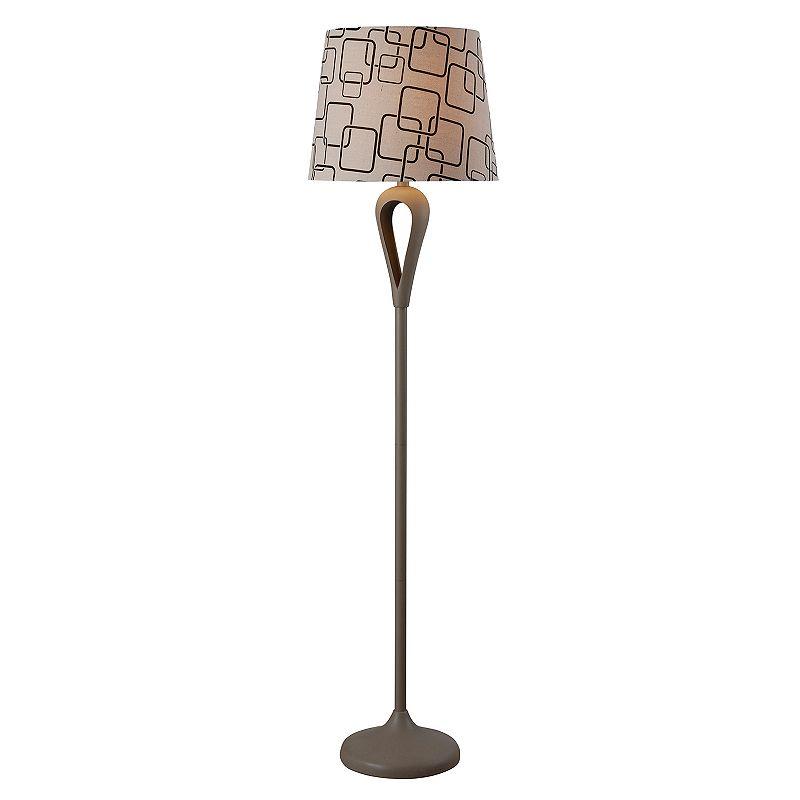Kenroy Home Gray Parfume Floor Lamp