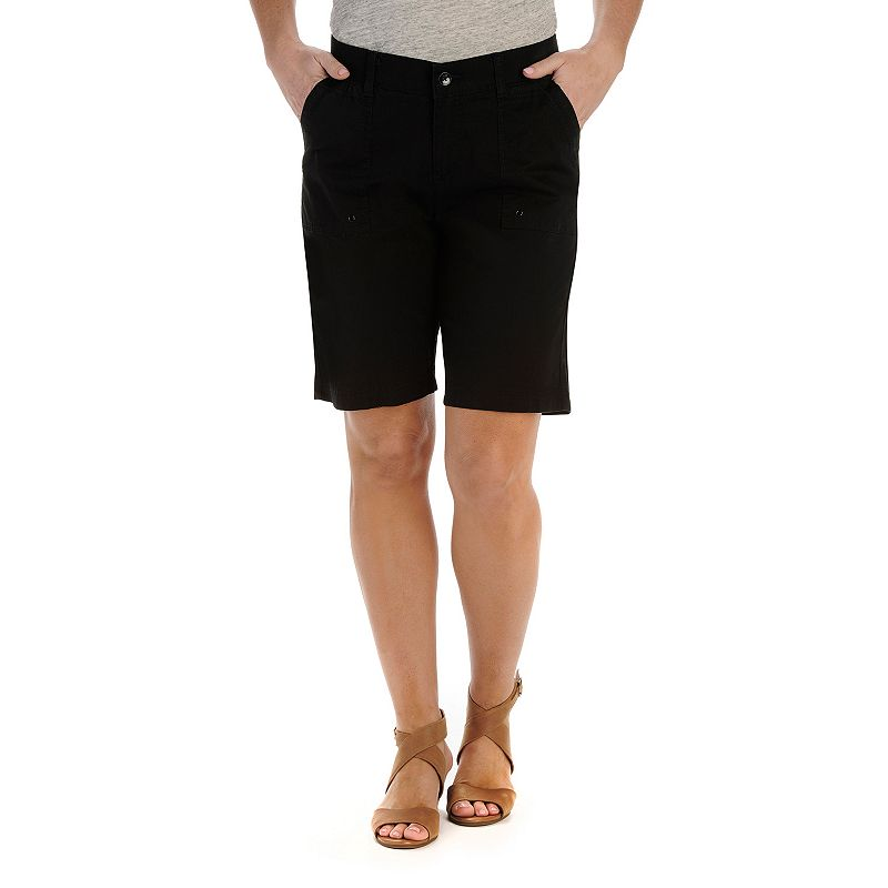 Petite Lee Miles Relaxed Fit Bermuda Shorts
