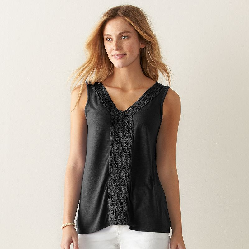 Women's SONOMA Goods for Life™ Slubbed Lace Tank