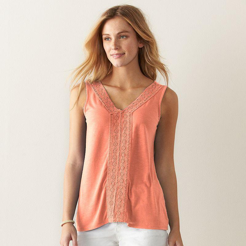 Women's SONOMA Goods for Life™ Slubbed Lace Tank