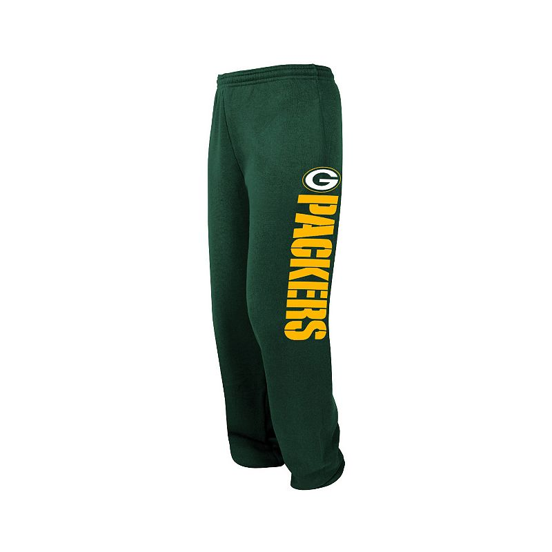 Big & Tall Majestic Green Bay Packers Tipped Pass Fleece Pants
