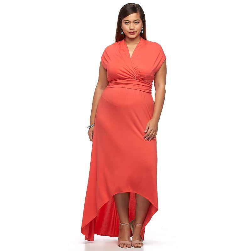 Plus Size Apt. 9® High-Low Maxi Dress