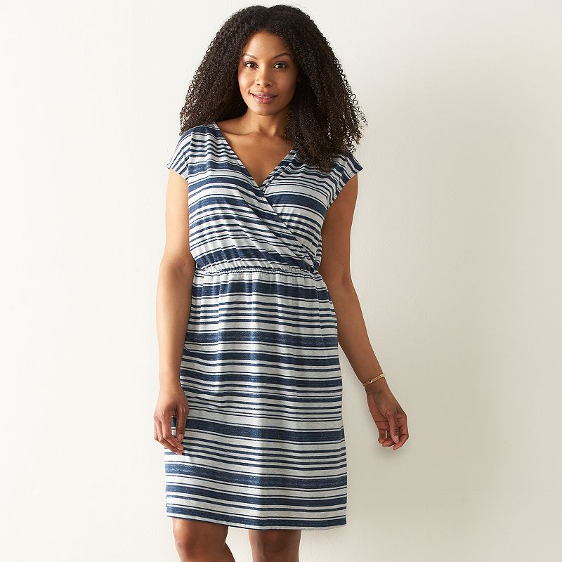 Plus Size SONOMA Goods for Life™ Print Surplice Dress