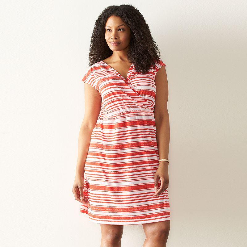 Plus Size SONOMA Goods for Life™ Print Surplice Dress