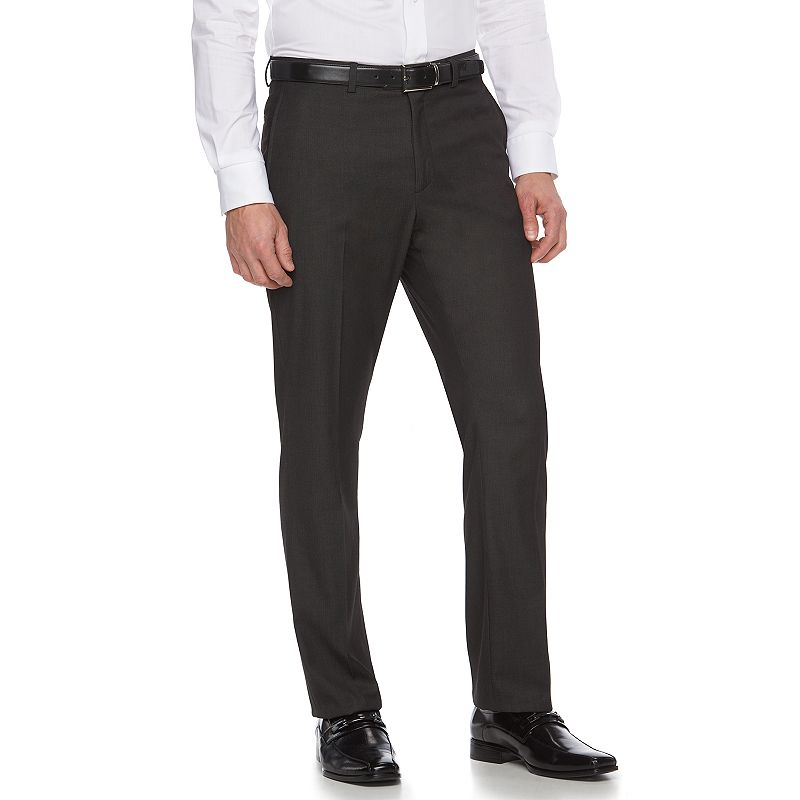 Men's Apt. 9 Slim-Fit Gray Herringbone Suit Pants