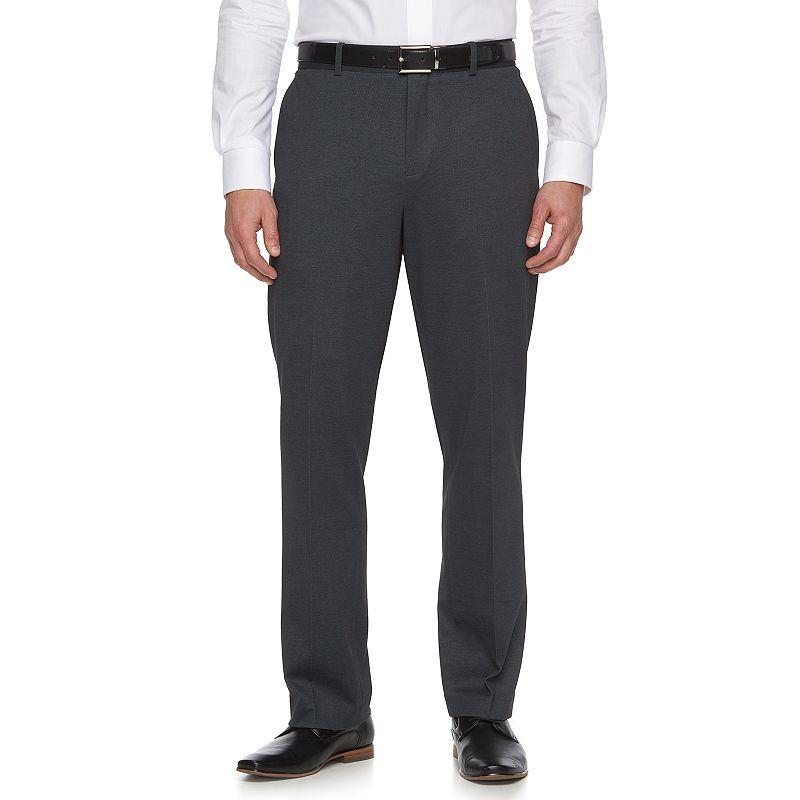 Men's Apt. 9® Knit Slim-Fit Gray Pindot Suit Pants