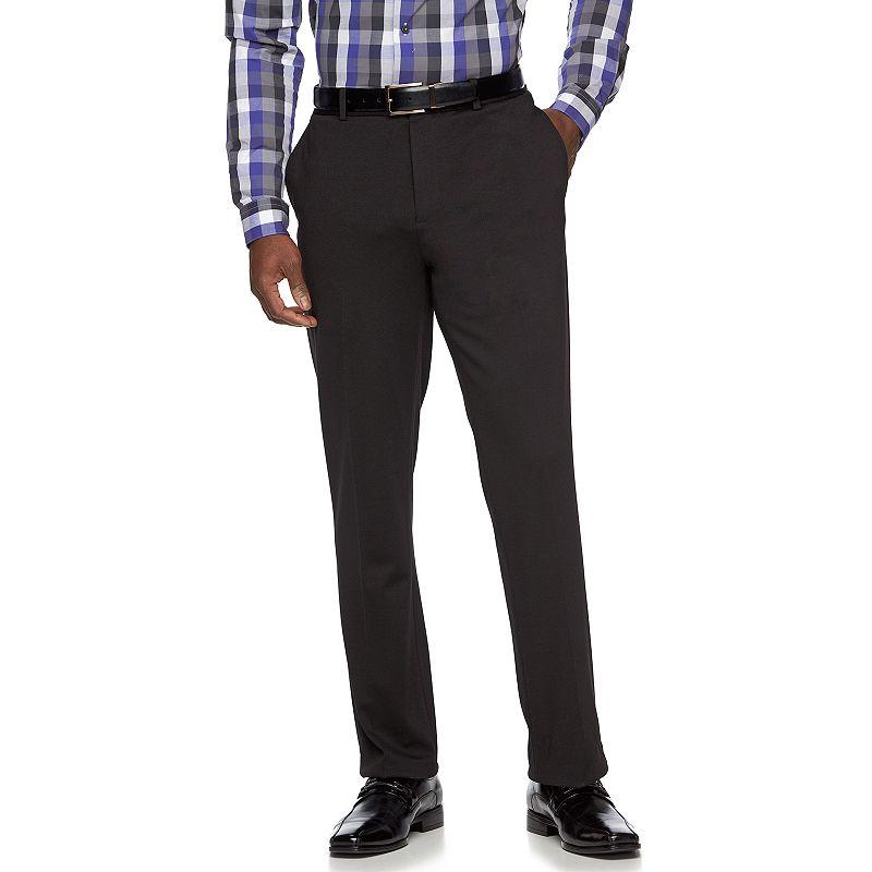 Men's Apt. 9® Knit Slim-Fit Black Suit Pants