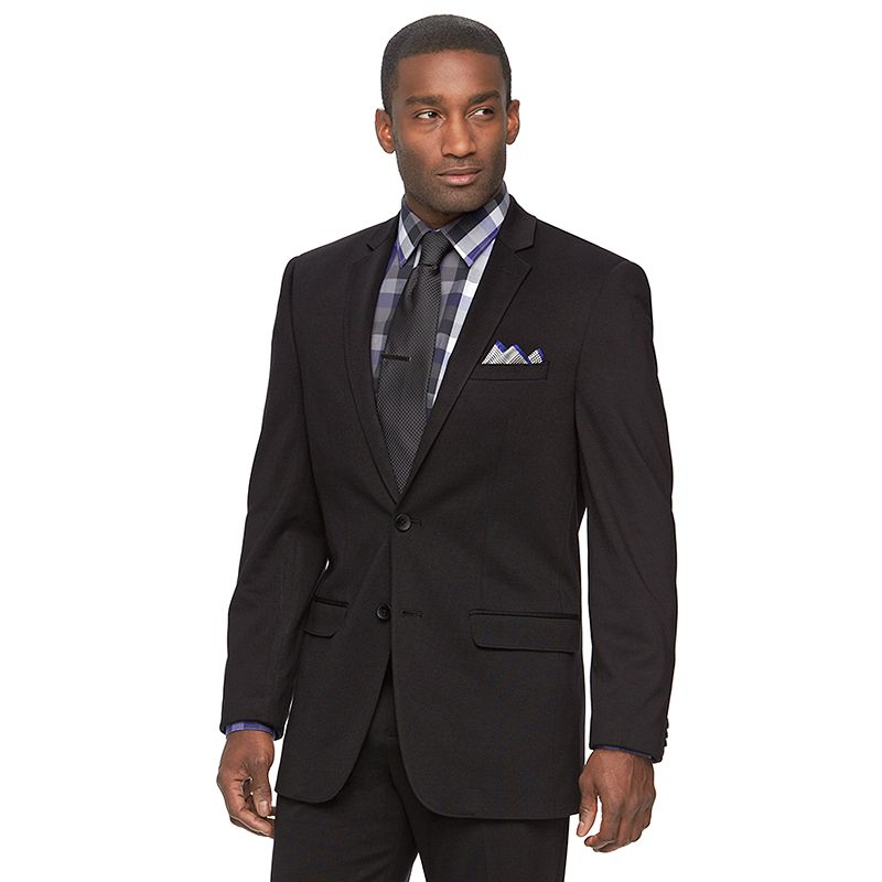 Men's Apt. 9® Knit Slim-Fit Black Suit Jacket