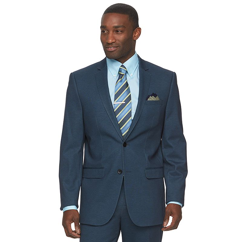 Men's Apt. 9® Knit Slim-Fit Navy Suit Jacket