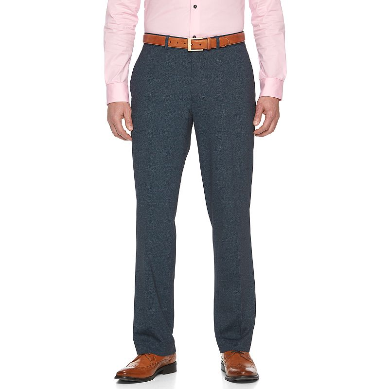 Men's Apt. 9 Knit Blue Heather Slim-Fit Suit Pants