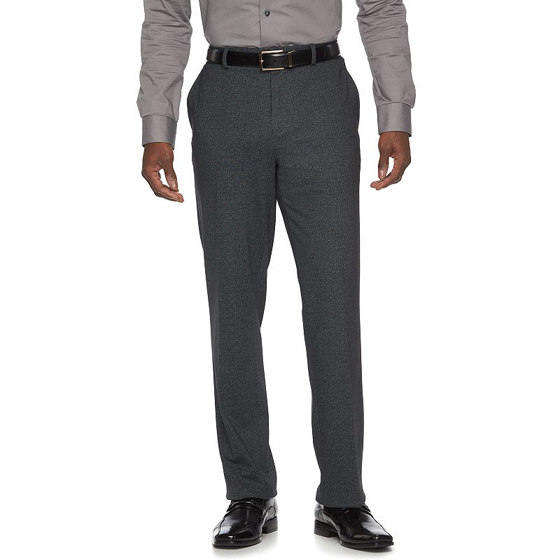 Men's Apt. 9® Knit Slim-Fit Charcoal Heather Suit Pants