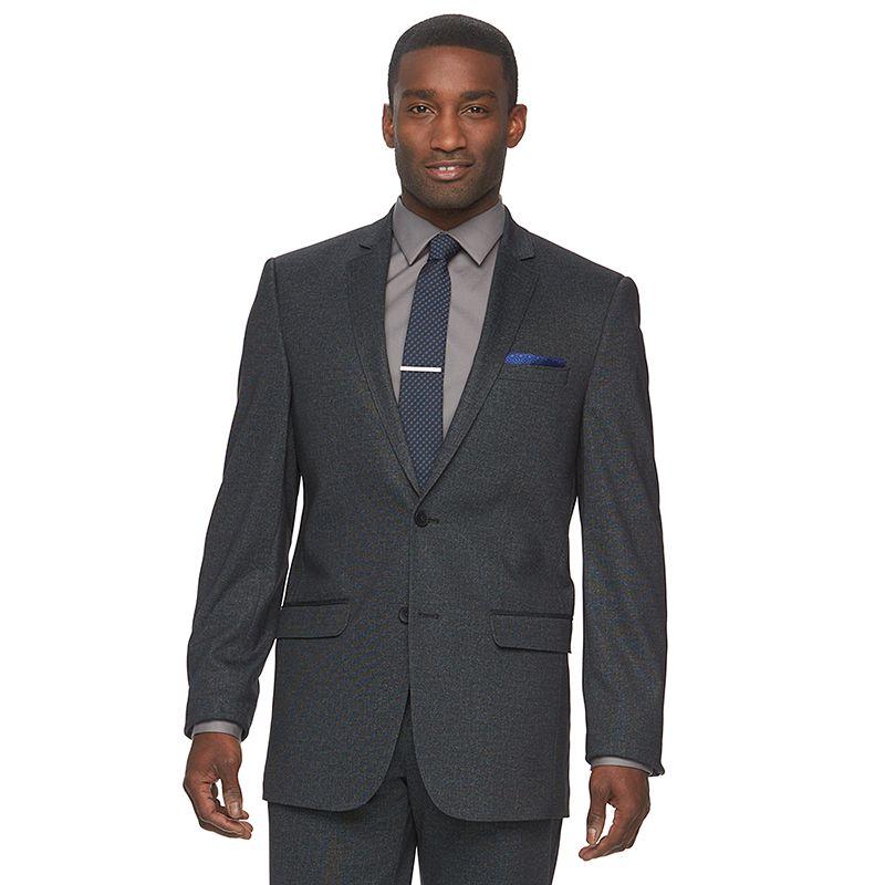 Men's Apt. 9® Knit Slim-Fit Charcoal Heather Suit Jacket