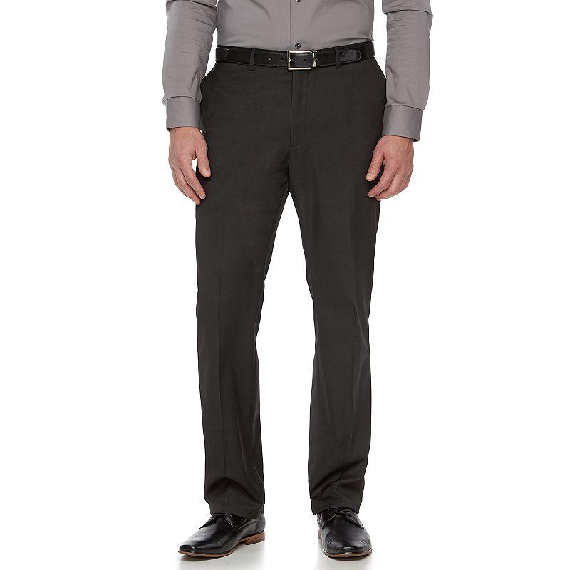 Men's Apt. 9 Plain Weave Black Slim-Fit Suit Pants