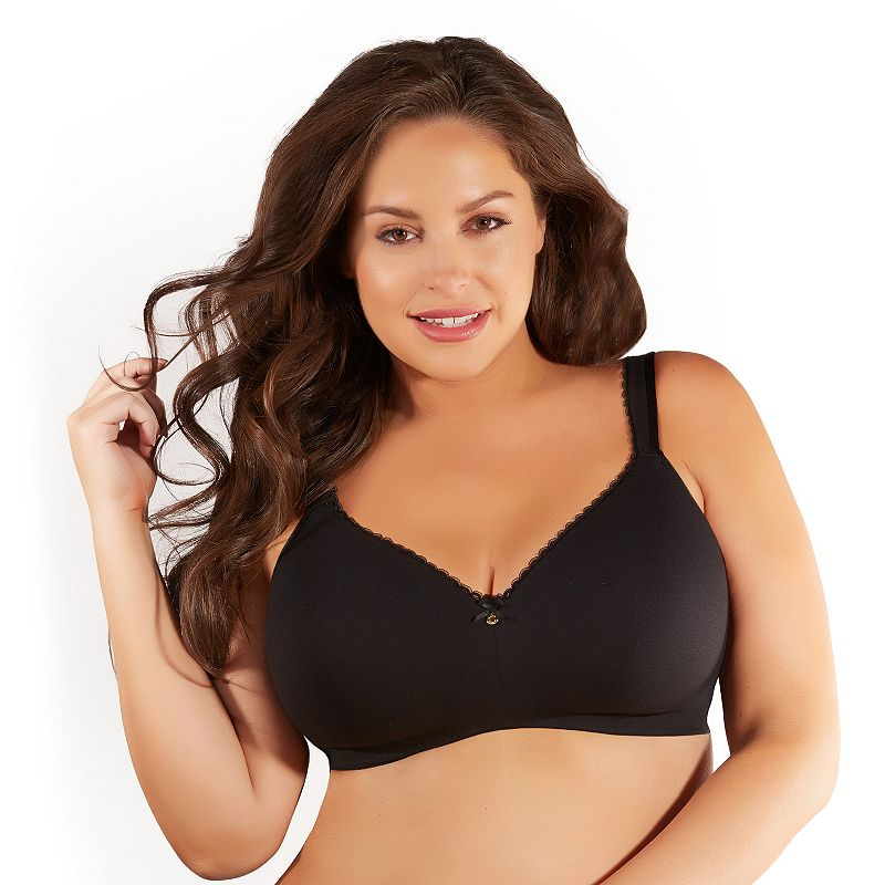 Curvy Creations Bra: Cotton Wire-Free Full-Figure Bra CC1011