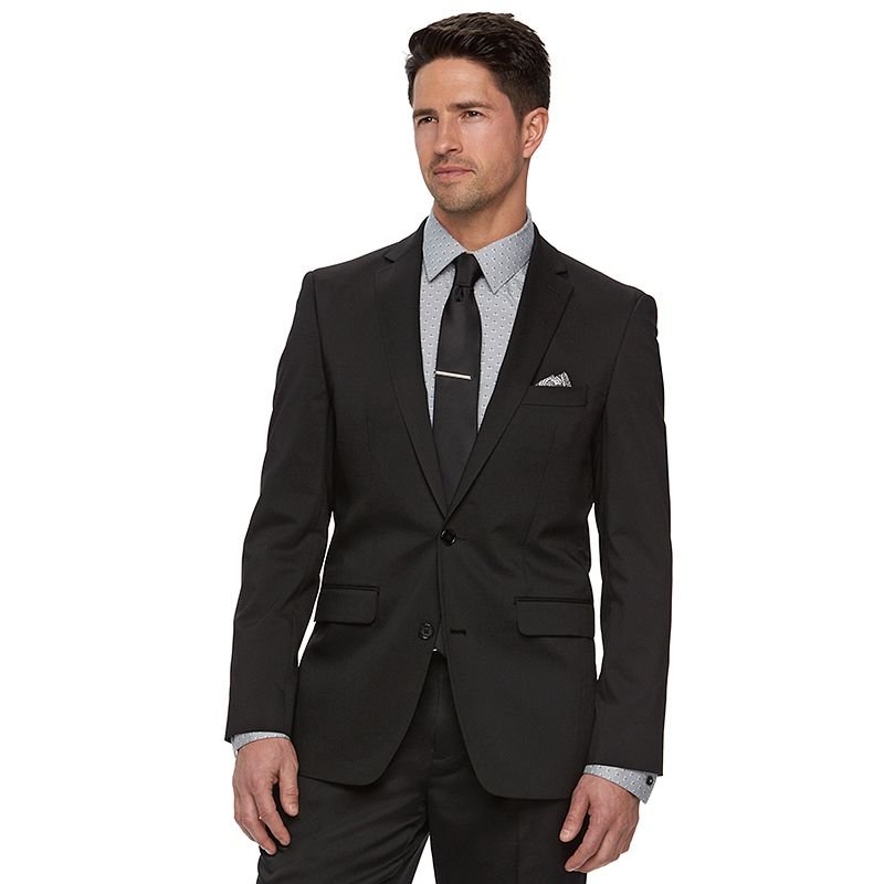 Men's Apt. 9® Extra Slim-Fit Black Tech Stretch Suit Jacket