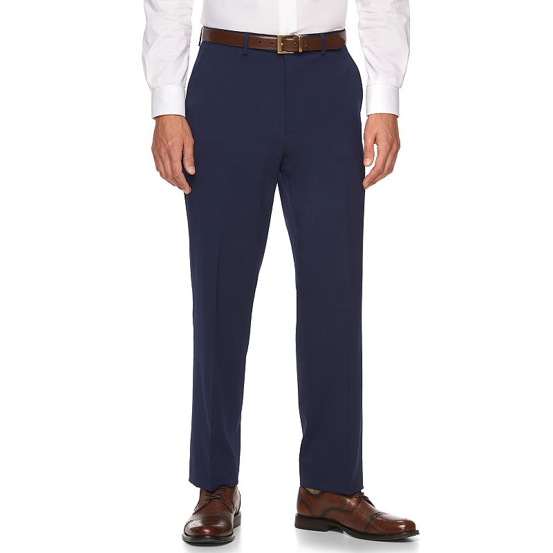 Men's Chaps Classic-Fit Blue Wool-Blend Suit Pants