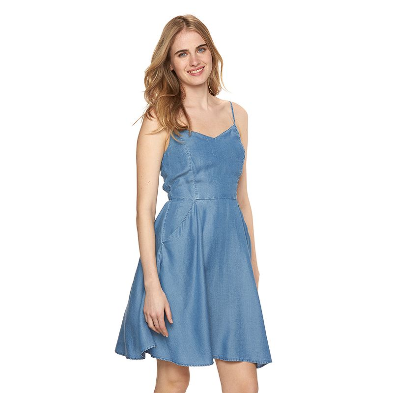 Women's LC Lauren Conrad Chambray Fit & Flare Dress