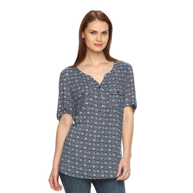 Women's Croft & Barrow® Print Crepe Shirt