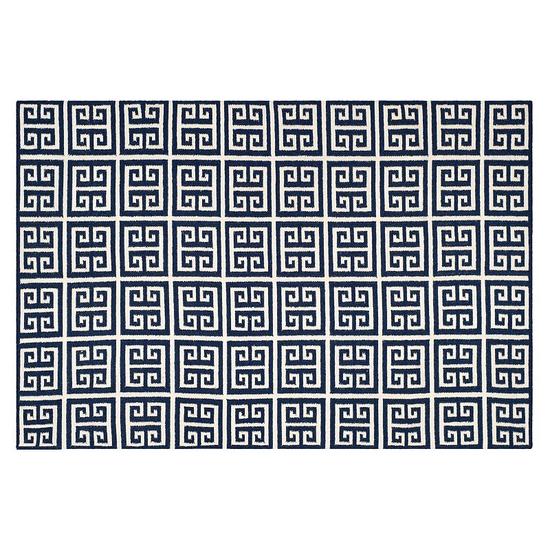 Safavieh Dhurries Greek Key Handwoven Flatweave Wool Rug