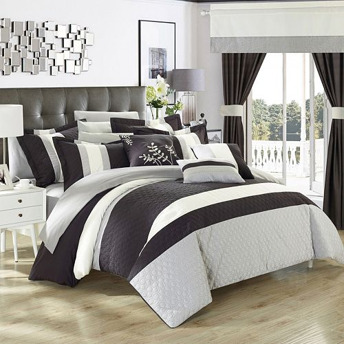 Covington  Piece Bed In A Bag Set Grey