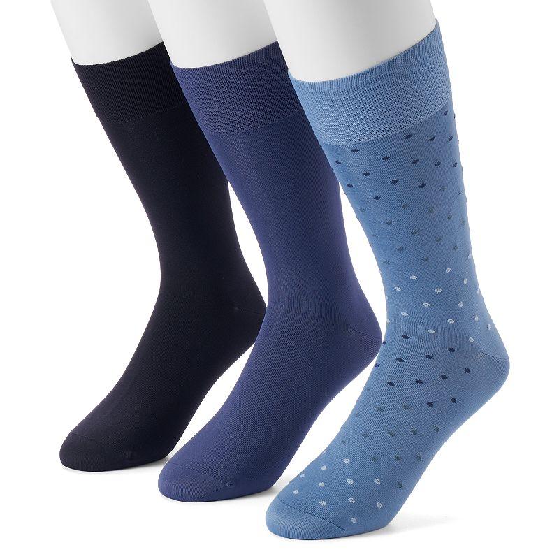 Men's Marc Anthony 3-pack Microfiber Dress Socks