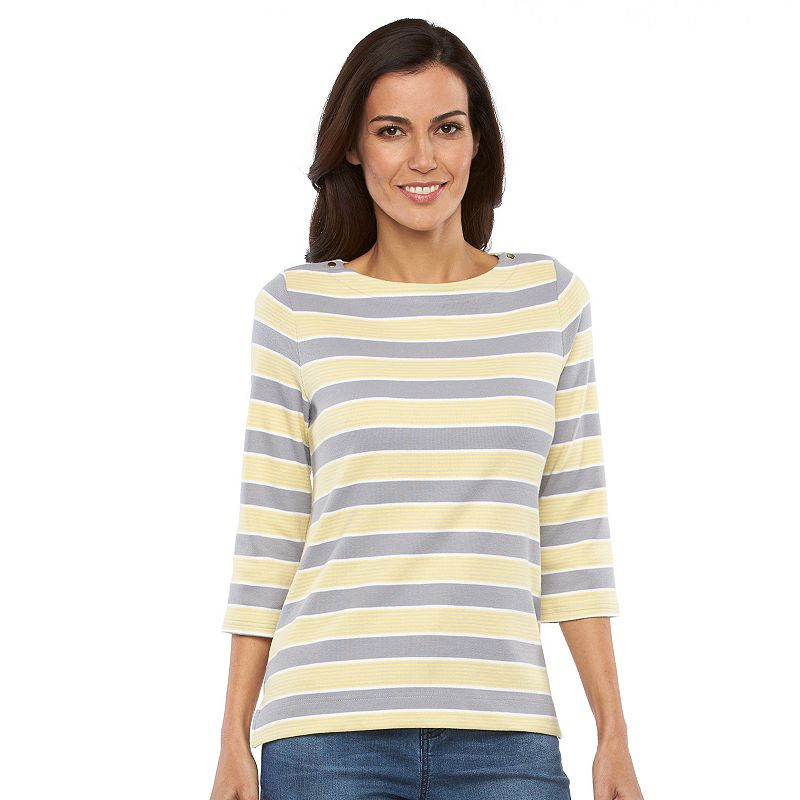 Women's Croft & Barrow® Striped Boatneck Top
