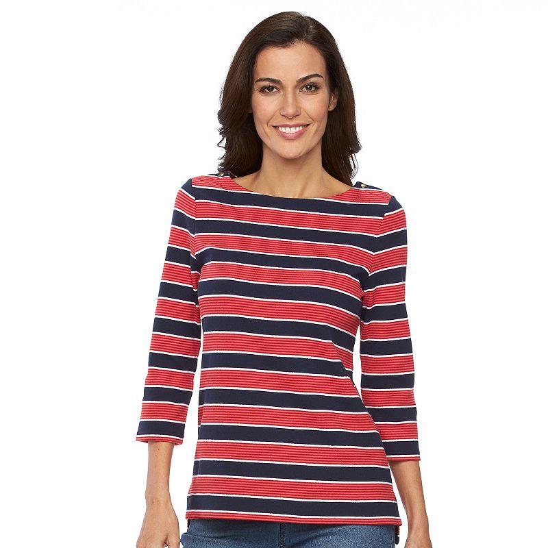 Women's Croft & Barrow® Striped Boatneck Top