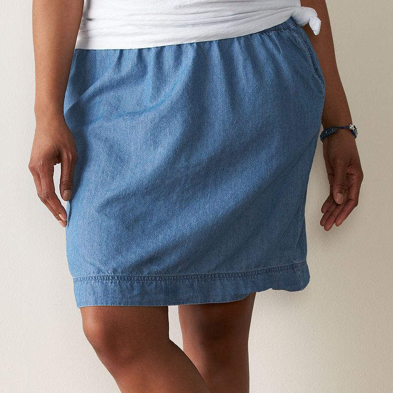 Plus Size SONOMA Goods for Life™ Pull-On Woven Skirt